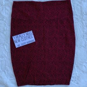 Torrid Red Animal Print Stretchy Pencil Skirt